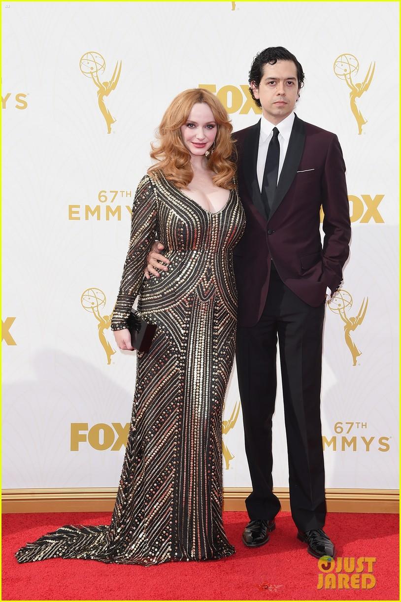 Christina Hendricks Husband Geoffrey Arend Are Red Carpet
