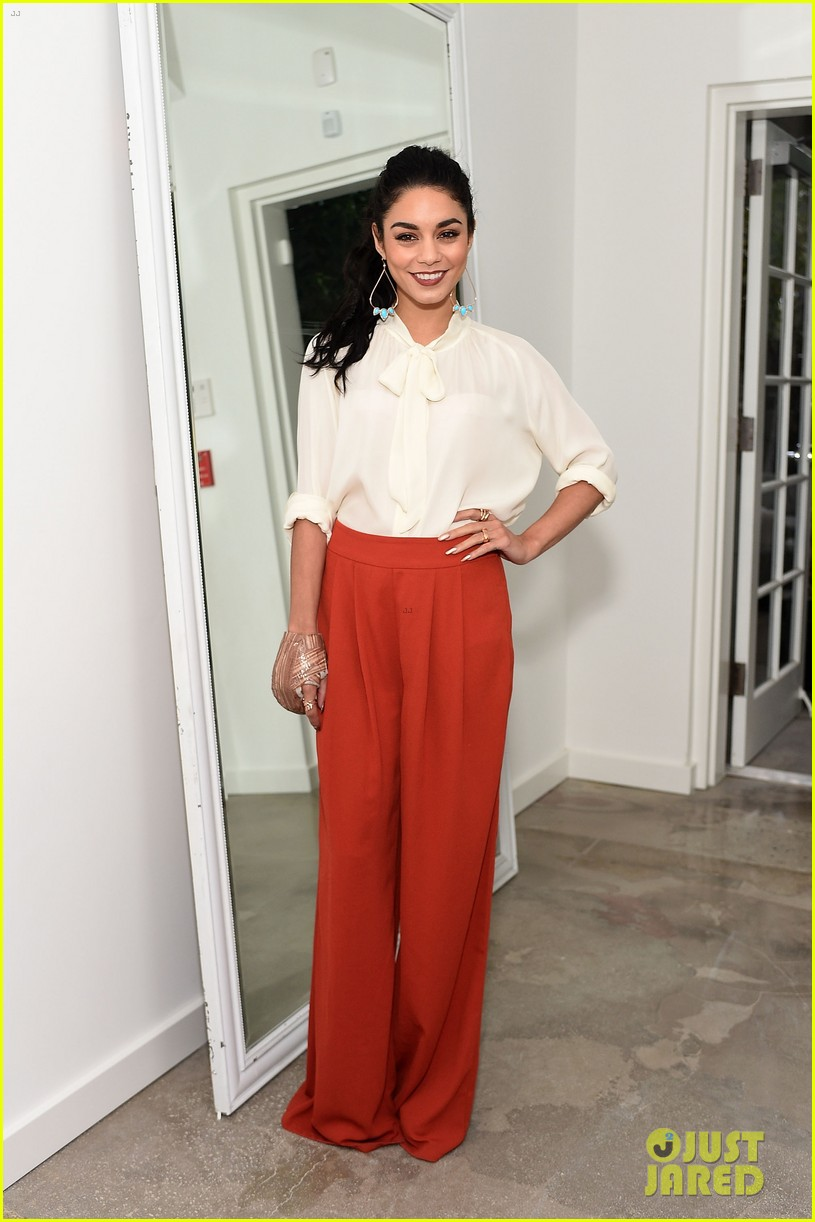 vanessa hudgens lily collins camilla belle get glam for the a list 15th anniversary party 103450958