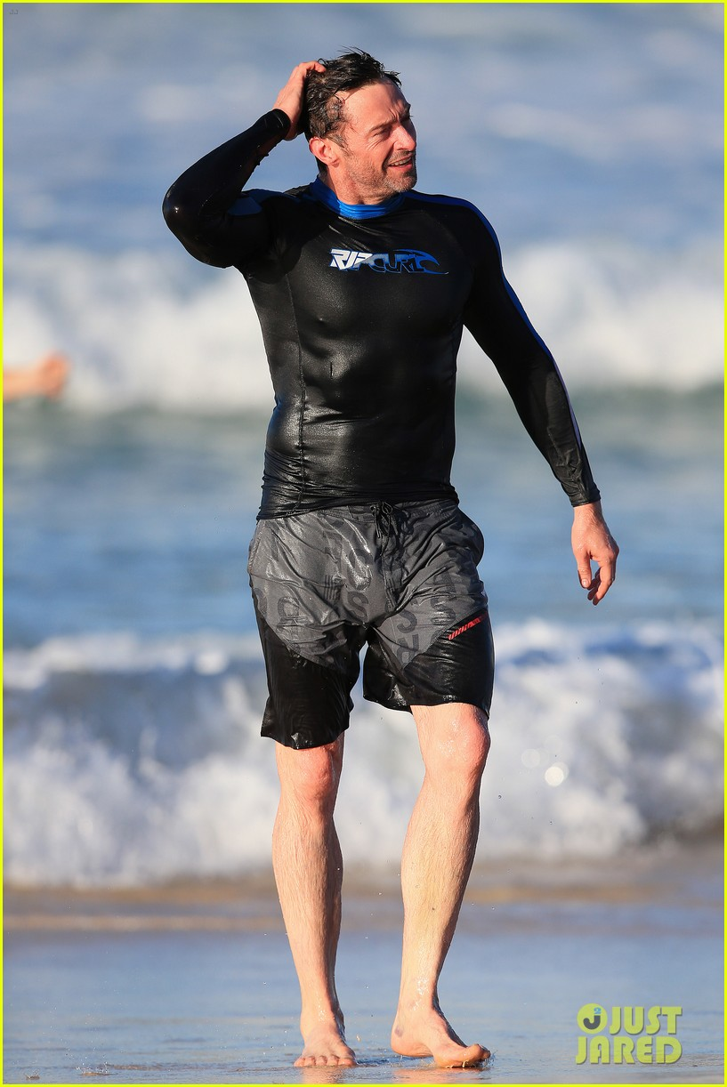 hugh jackman takes dip in the water 173451906