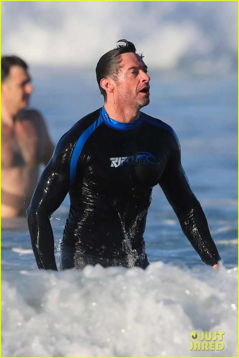 hugh jackman takes dip in the water 193451908