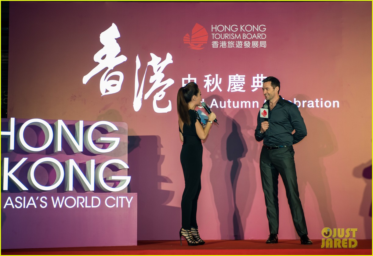 hugh jackman dances with the fire dragon in hong kong 103472716
