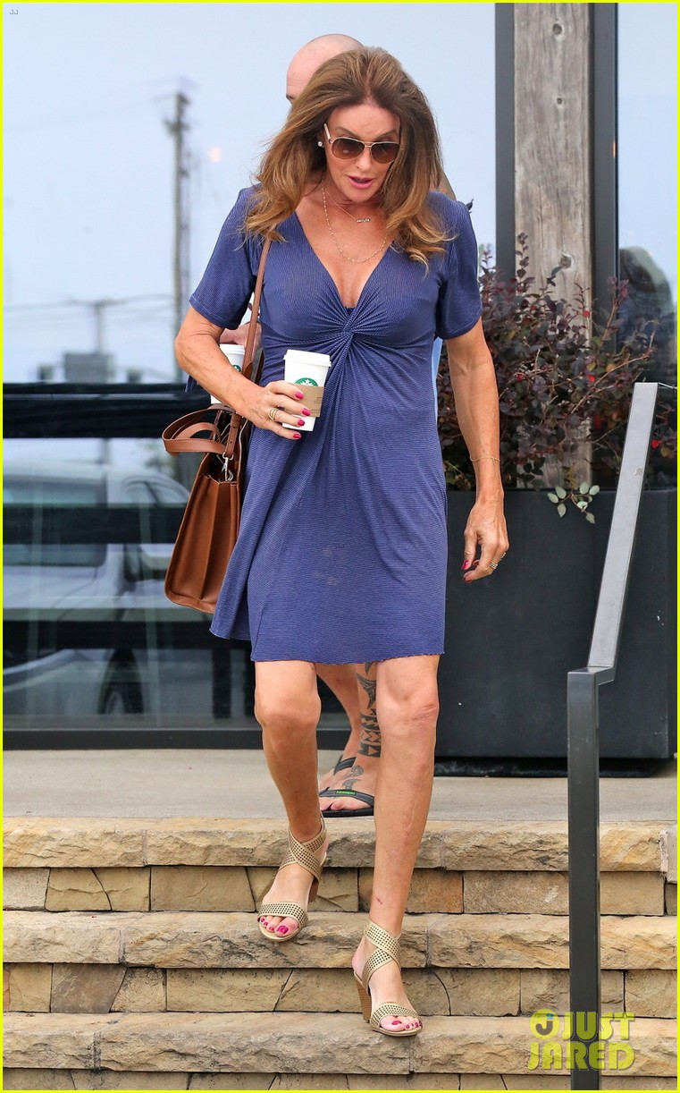 Caitlyn Jenner Flaunts Some Cleavage In Low Cut Dress