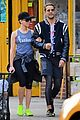 scarlett johansson works on her fitness with husband romain dauriac 01