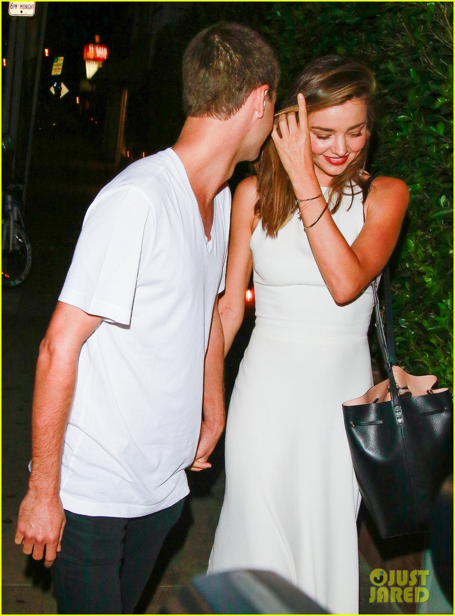 Miranda Kerr & Snapchat's Evan Spiegel Look So Happy