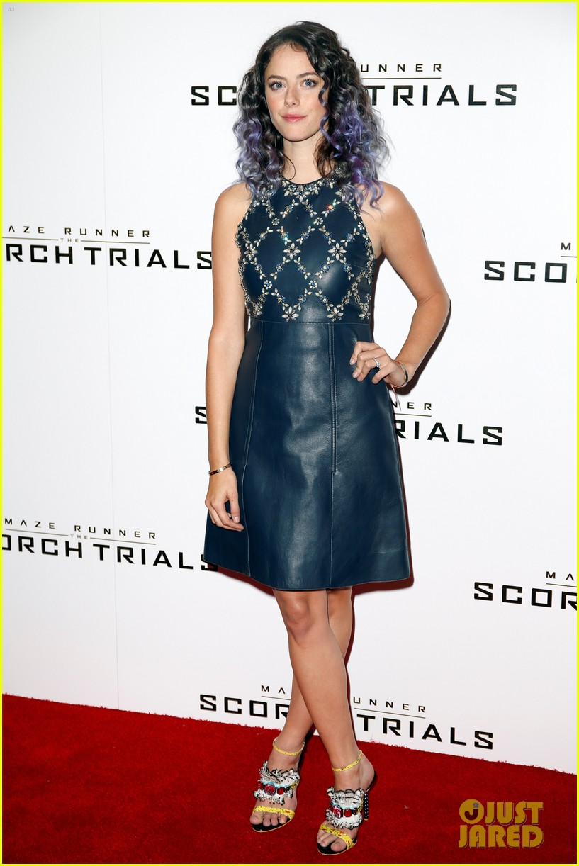 kaya scodelario debuts purple hair 073454605