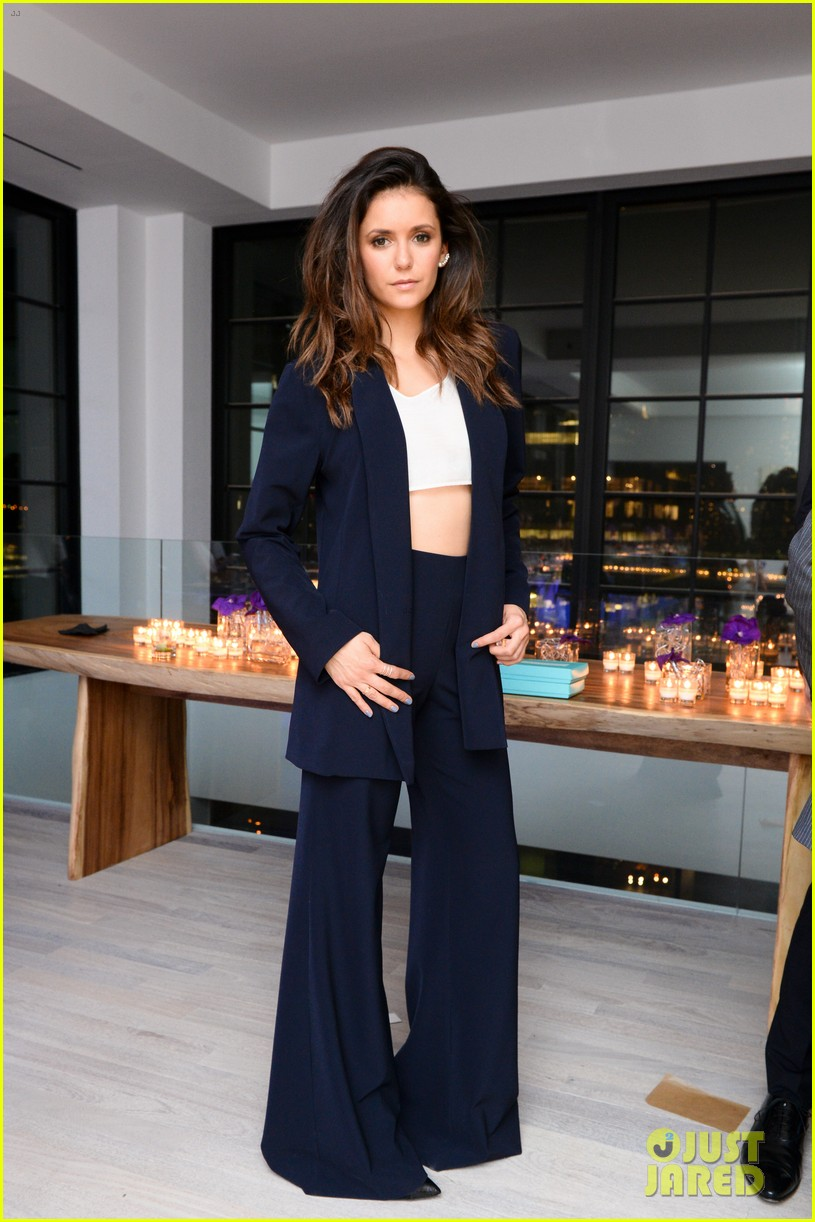 nina dobrev austin stowell couple up at founding member launch 023464178