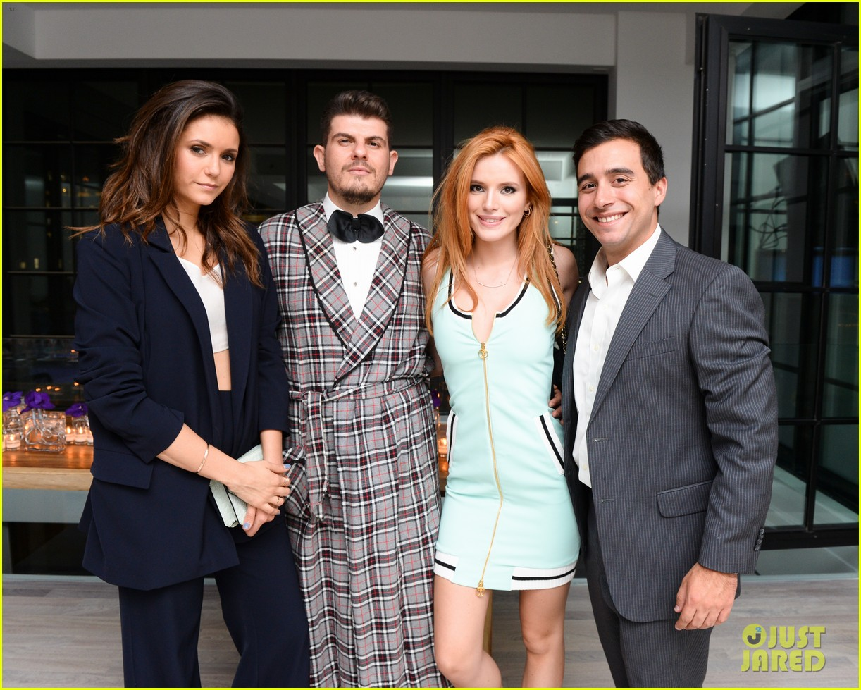 nina dobrev austin stowell couple up at founding member launch 033464179