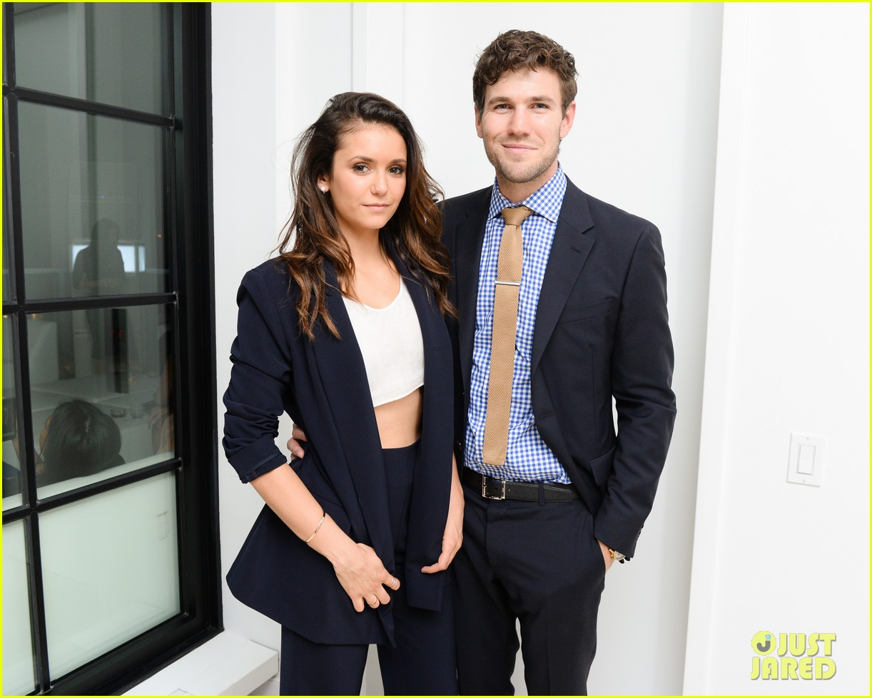 nina dobrev austin stowell couple up at founding member launch 053464181