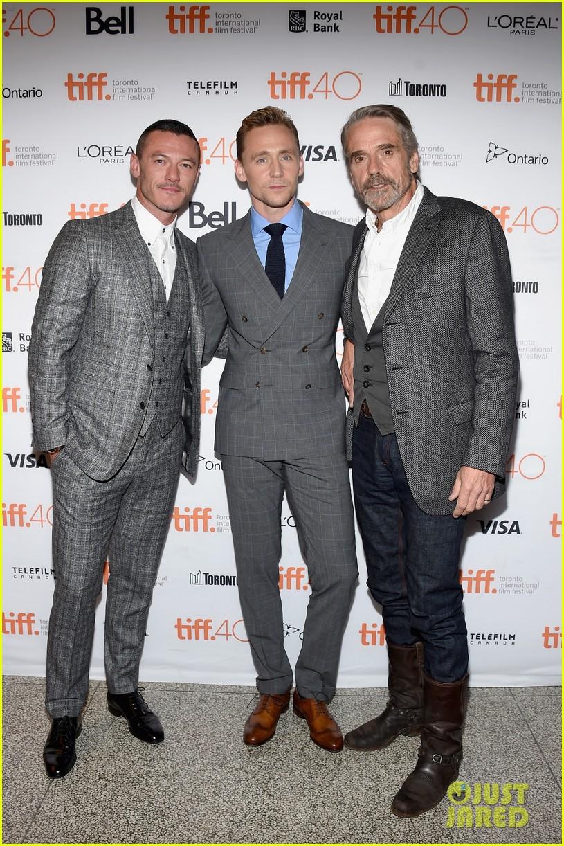 tom hiddleston luke evans high rise premiere 013460348