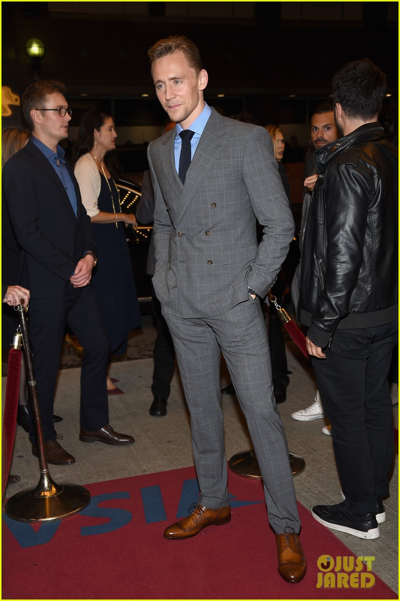 tom hiddleston luke evans high rise premiere 183460365