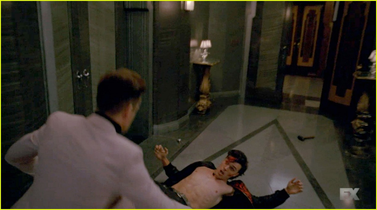 matt bomer finn wittrock went shirtless on ahs hotel last night 083484170