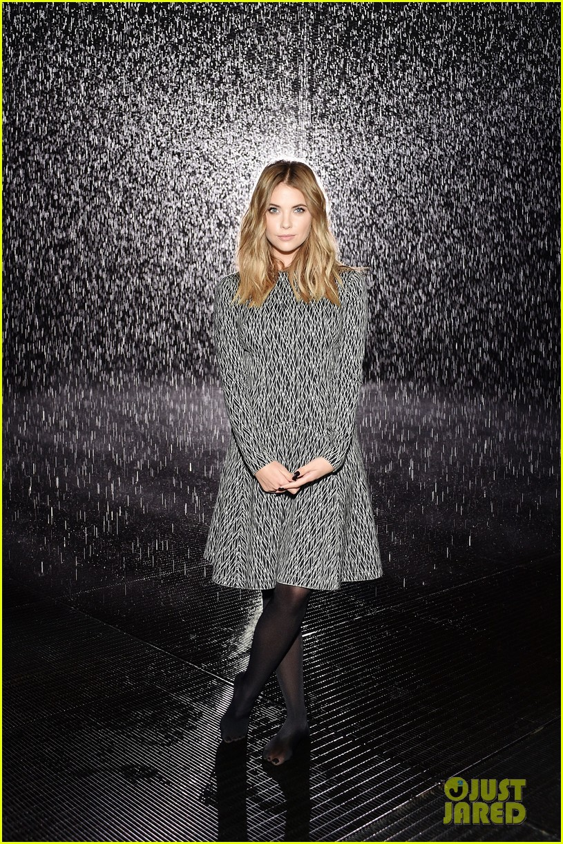 Dylan Penn & Ashley Benson Experience The Rain Room Exhibit at ...