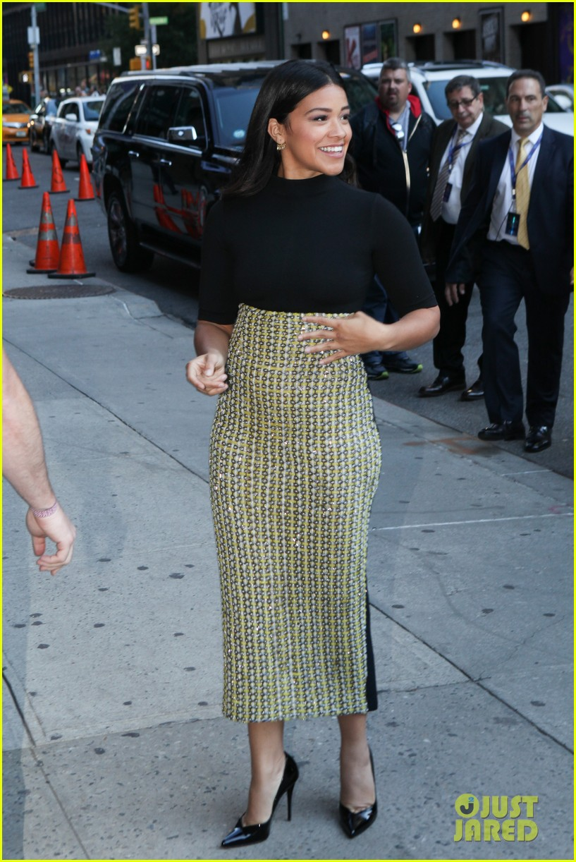 gina rodriguez stephen colbert nyc appearance 103479446