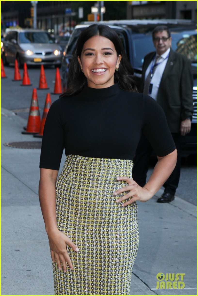 gina rodriguez stephen colbert nyc appearance 113479447