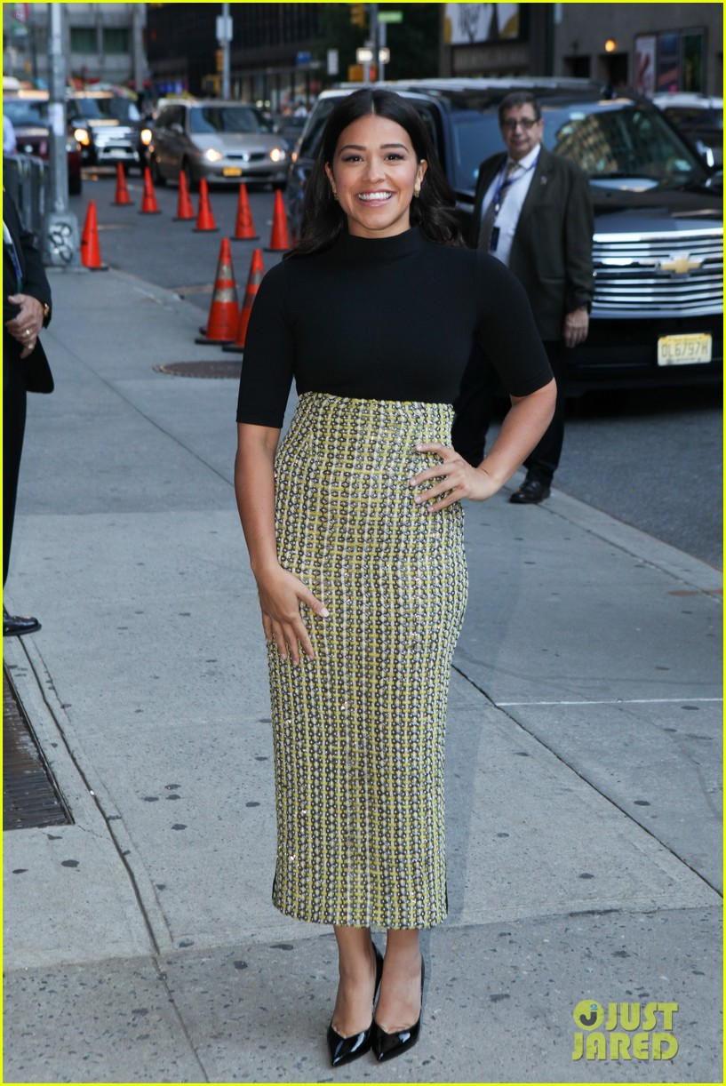 gina rodriguez stephen colbert nyc appearance 233479459