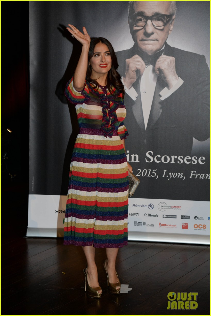 salma hayek honors martin scorsese at lumiere film festival 013486084