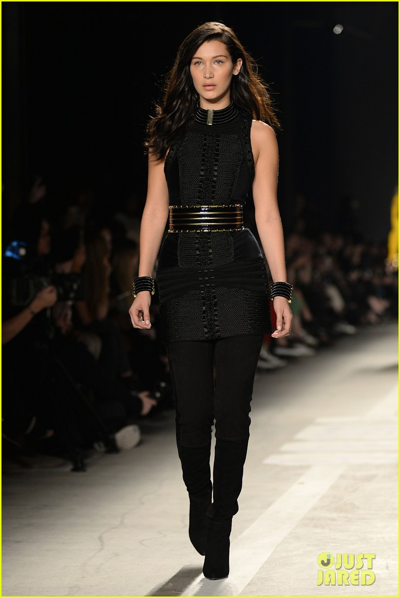 elegant shoes details for undefeated x Kendall Jenner, Gigi Hadid, & Karlie Kloss Walk the Balmain ...