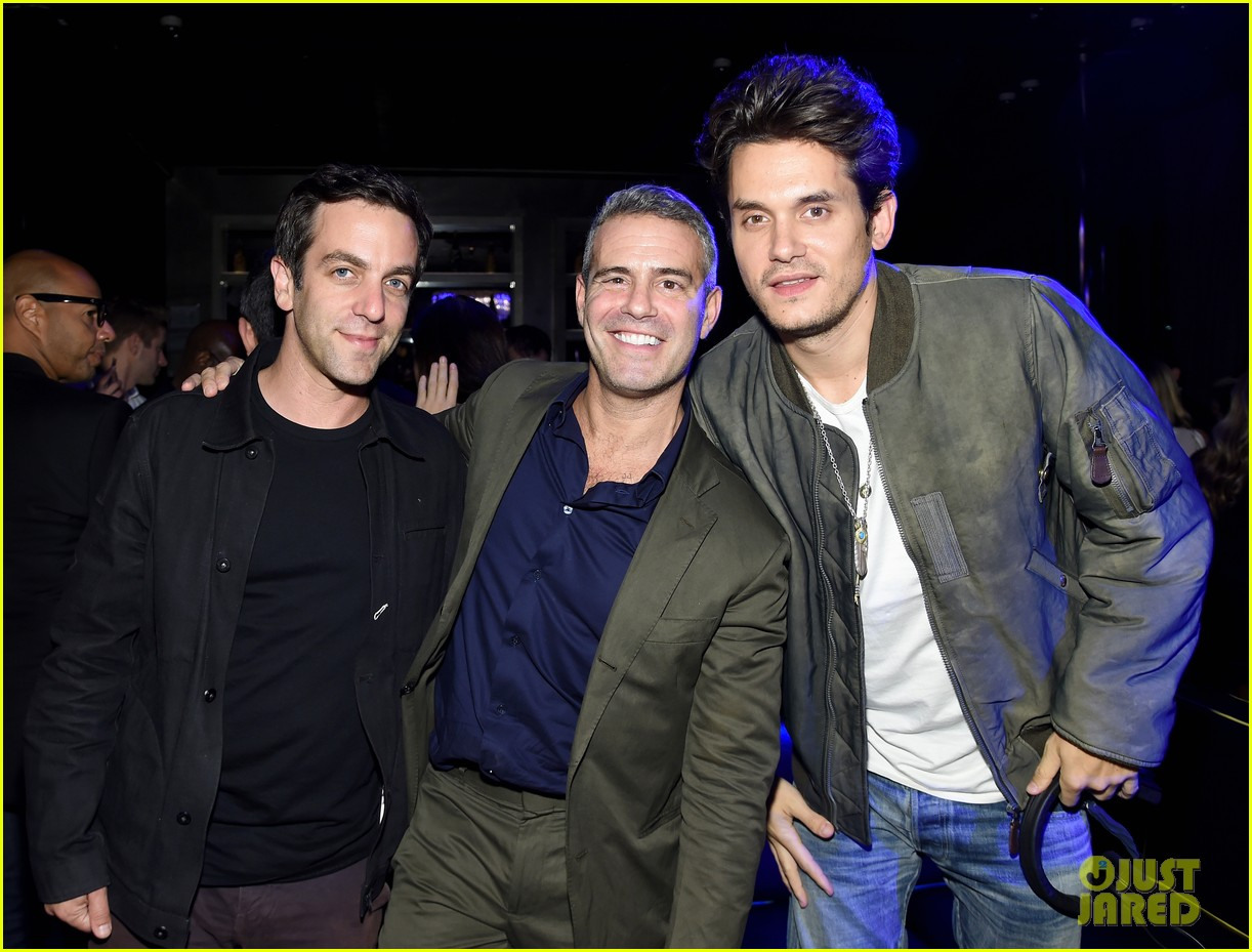 john mayer helps andy cohen celebrate siriusxm channel launch 033489277