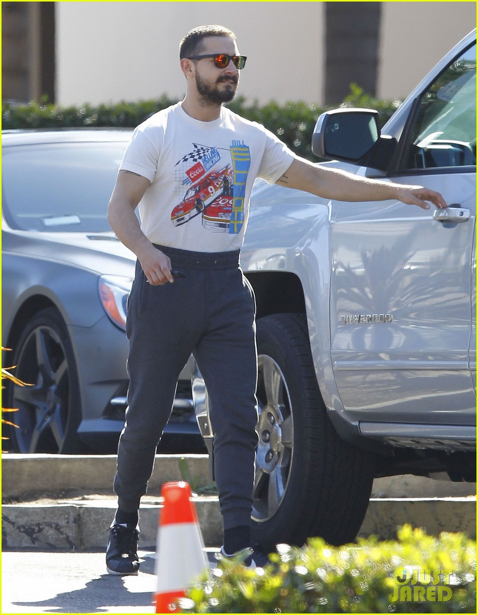 shia lebeouf wears unusual outfit in los angeles043490631