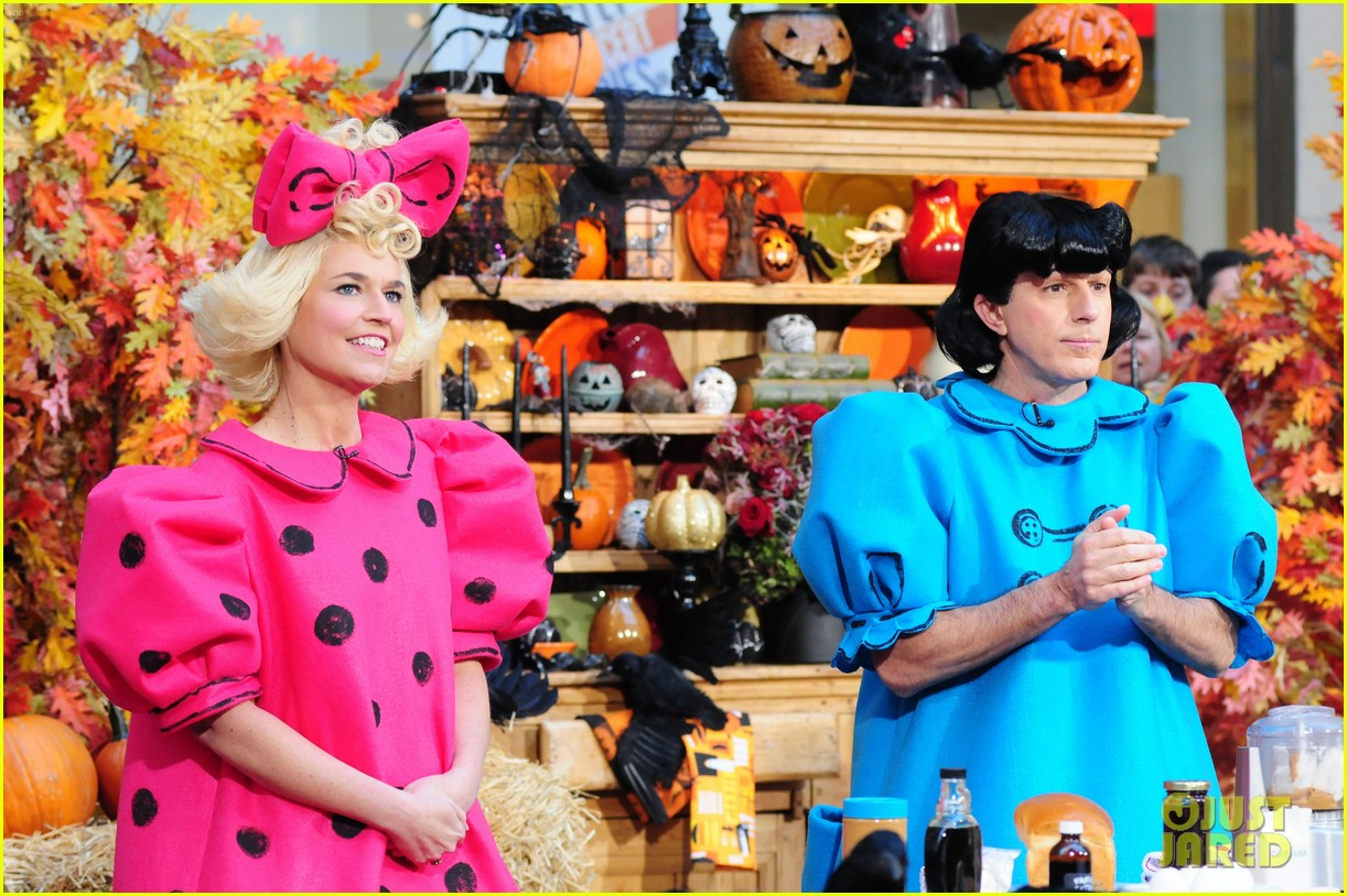 today show hosts wear spot on peanuts halloween costumes
