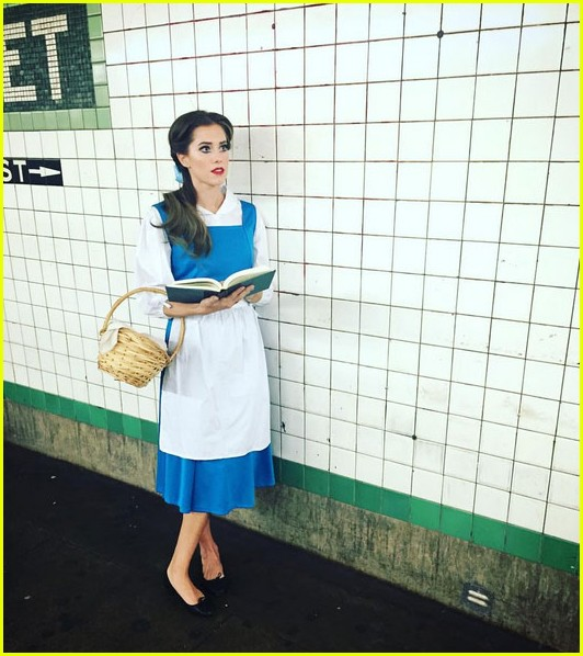 allison williams is the spitting image of belle for halloween