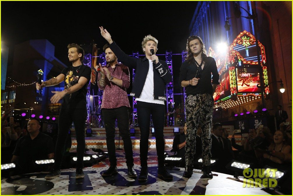 one direction shut down hollywood blvd kimmel performances interview 203512605