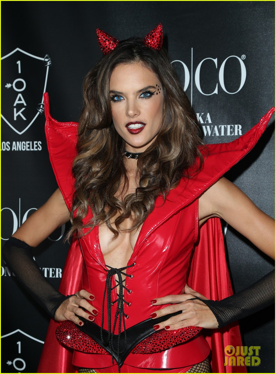 Alessandra Ambrosio Was a Sexy Red Devil on Halloween!: Photo ...