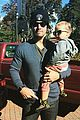 stephen amell goes shirtless on thanksgiving with baby mavi 12