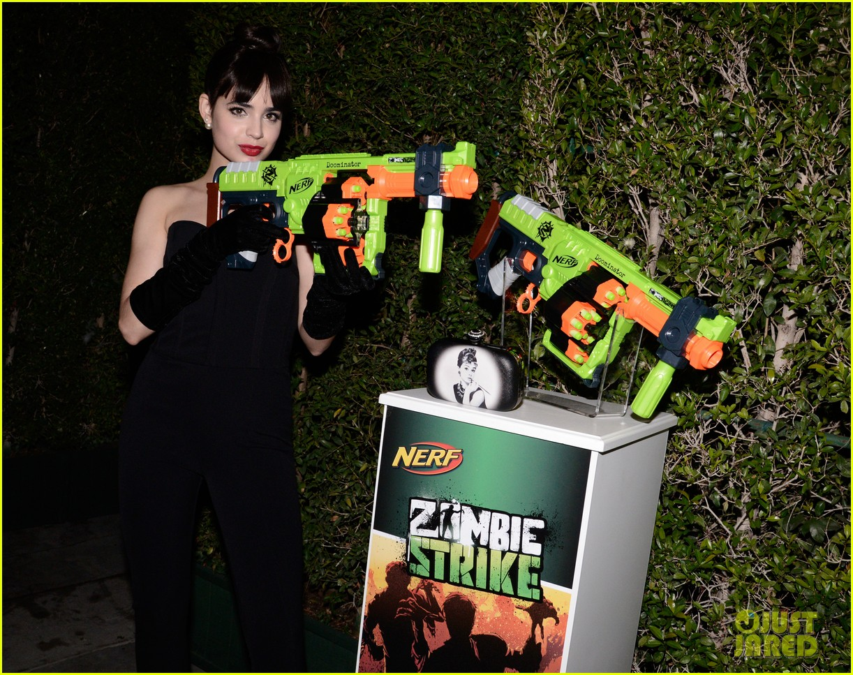 sofia carson just jared halloween party 023497189