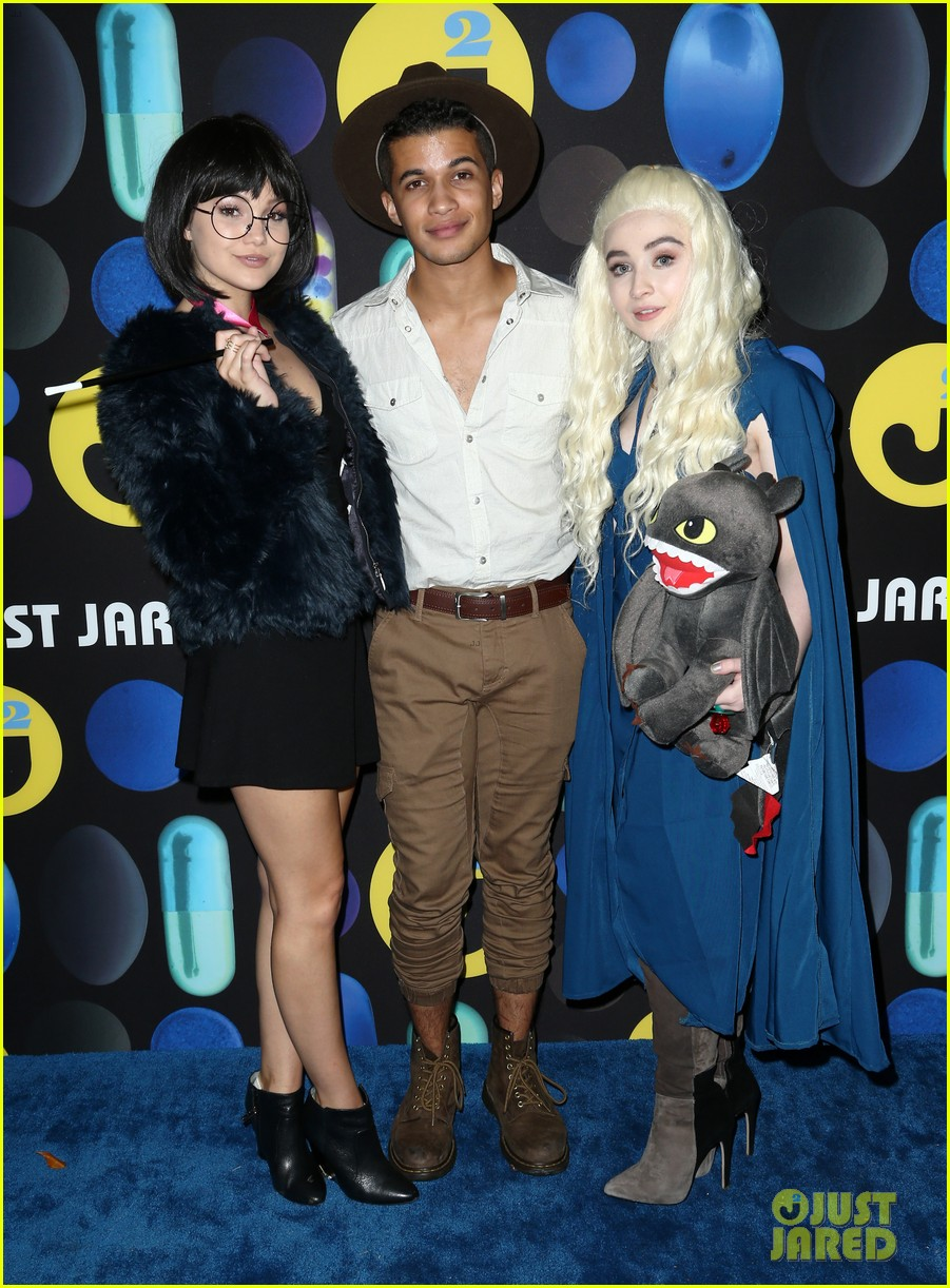 sofia carson just jared halloween party 033497190