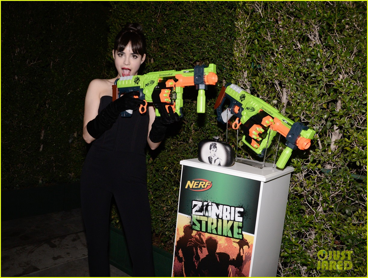 sofia carson just jared halloween party 213497208