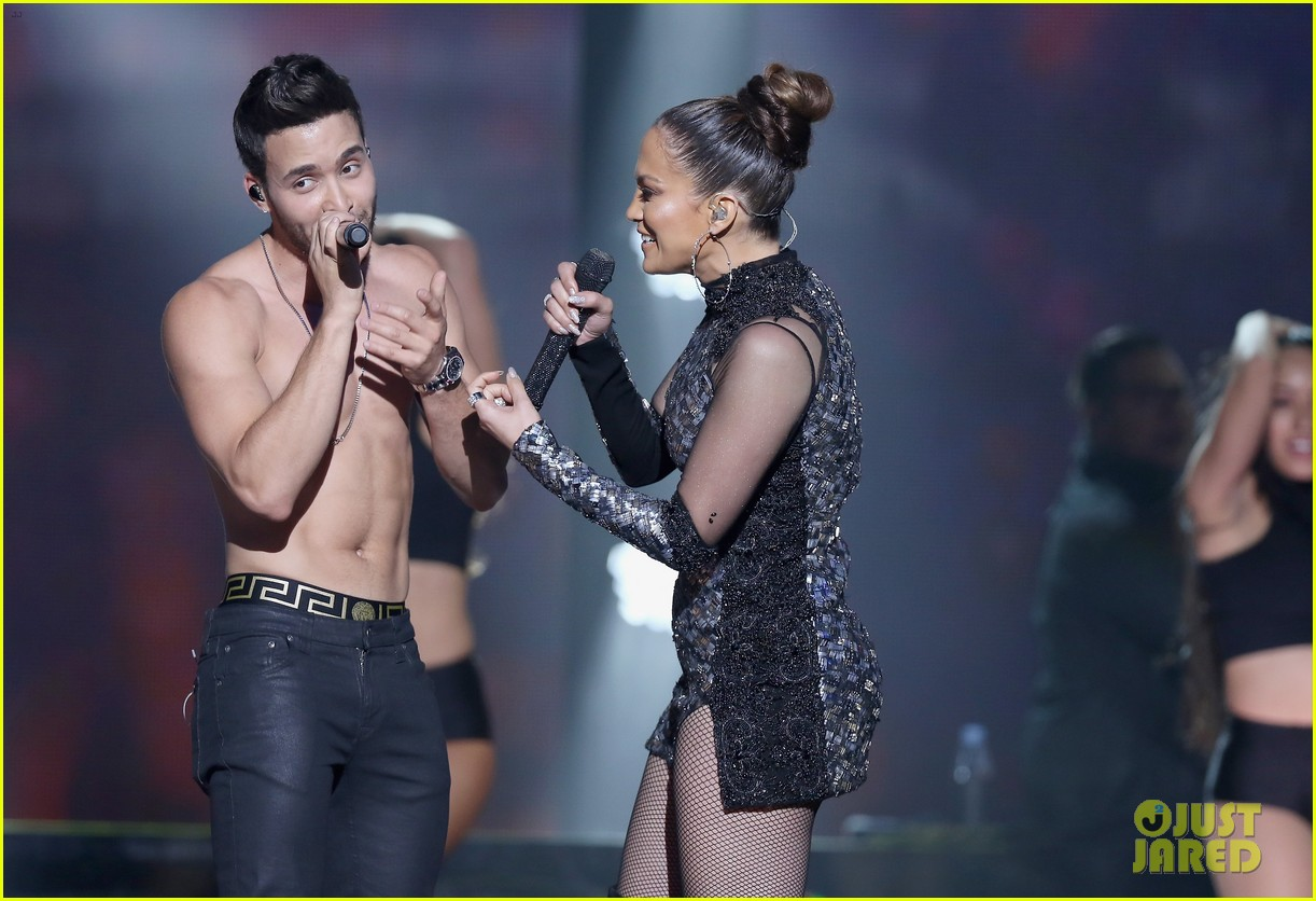 Jennifer Lopez Sings With Shirtless Prince Royce In Miami
