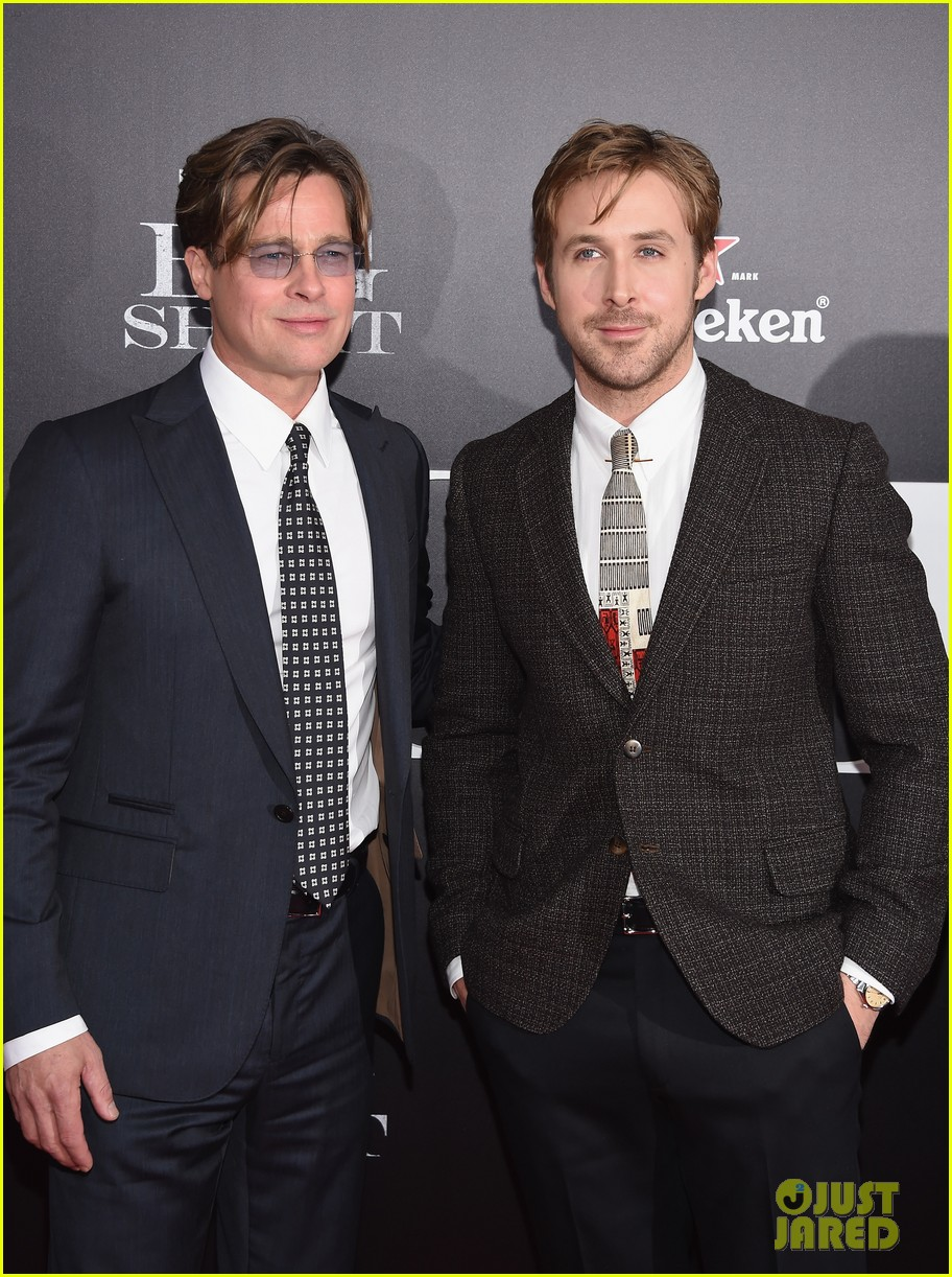 brad pitt ryan gosling the big short premiere 163516970