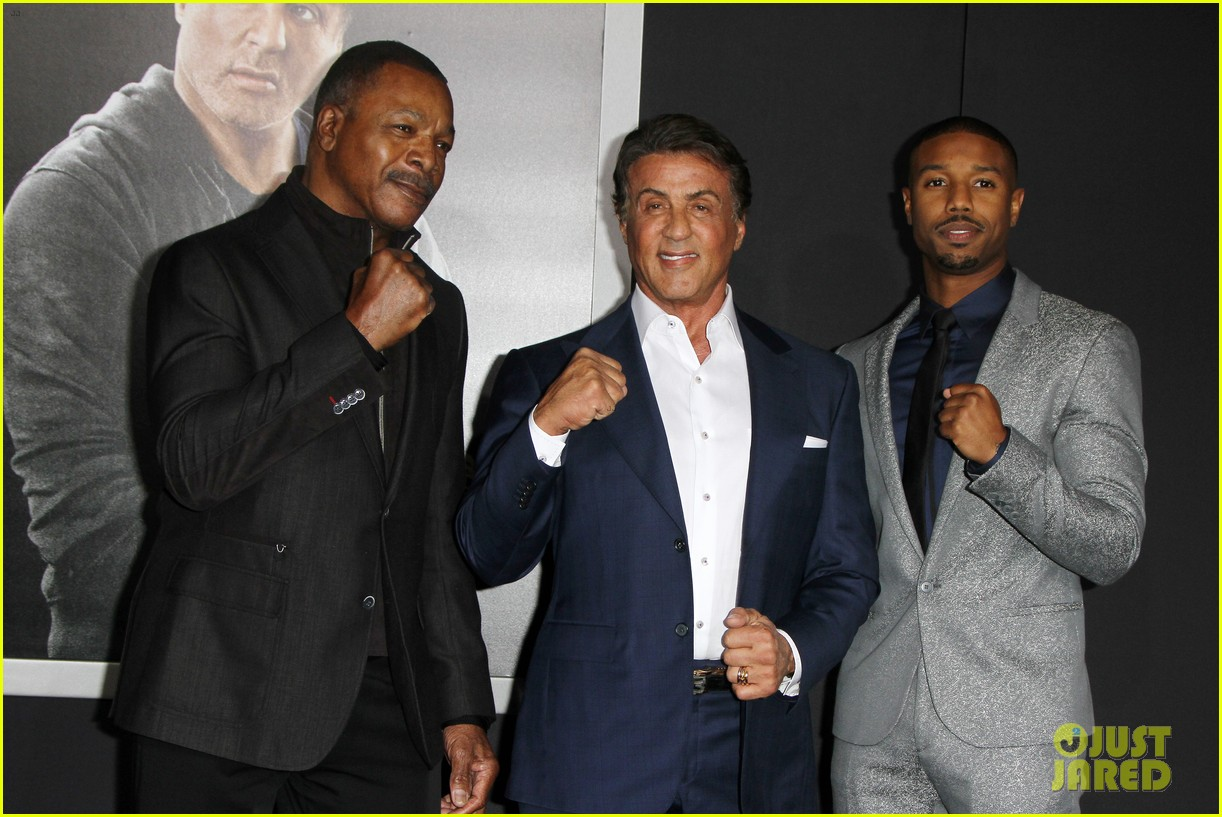 Sylvester Stallone Brings Family To Creed Premiere 36 on oscar de la hoya fiance