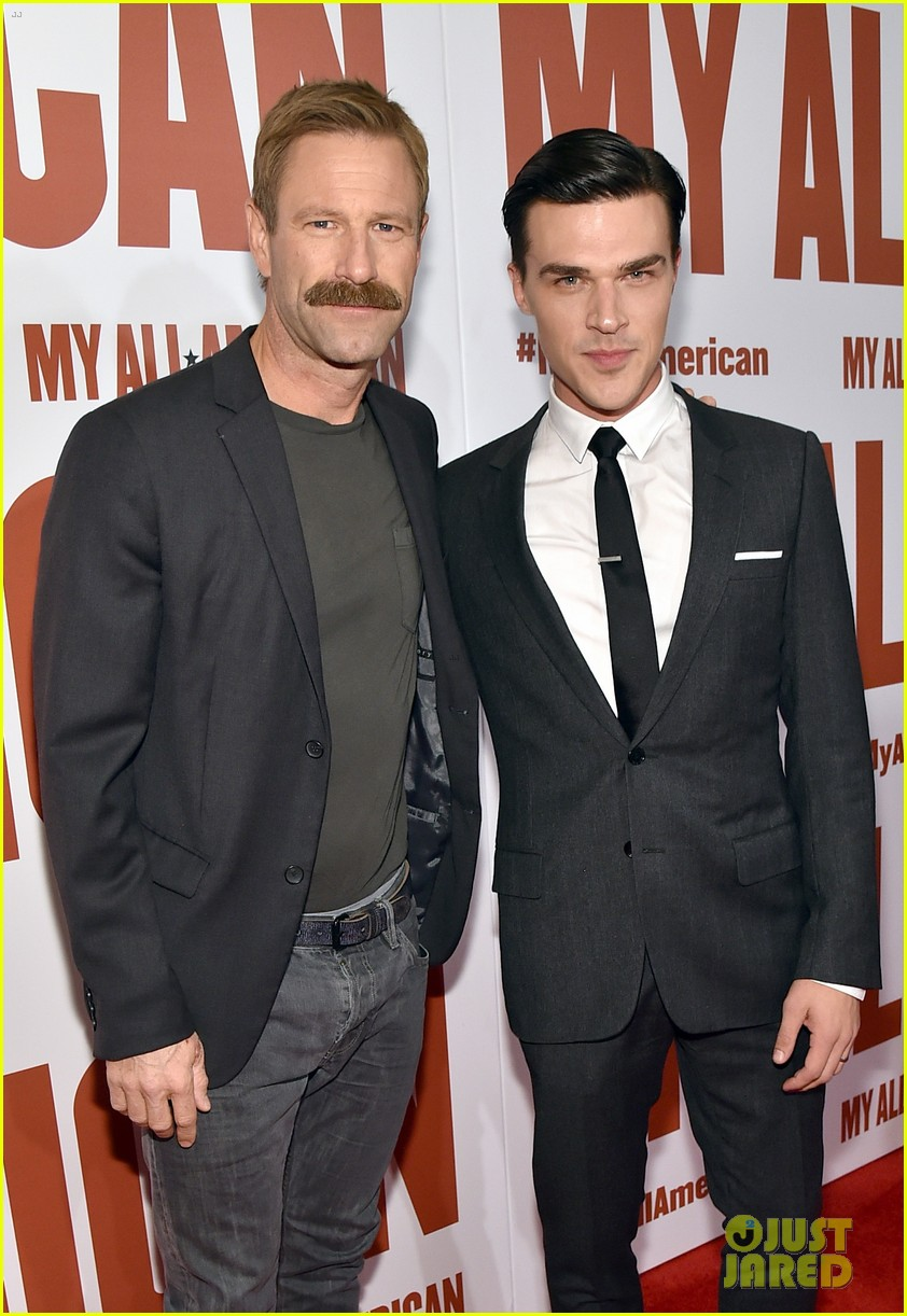 finn wittrock gets support from ahs co stars at my all american premiere 043504804