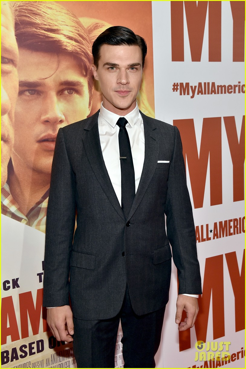 finn wittrock gets support from ahs co stars at my all american premiere 113504811