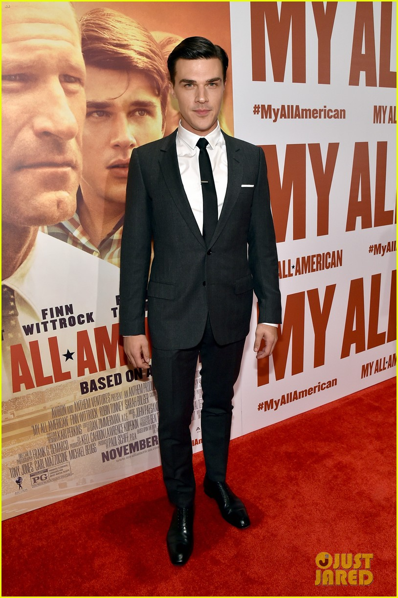 finn wittrock gets support from ahs co stars at my all american premiere 123504812