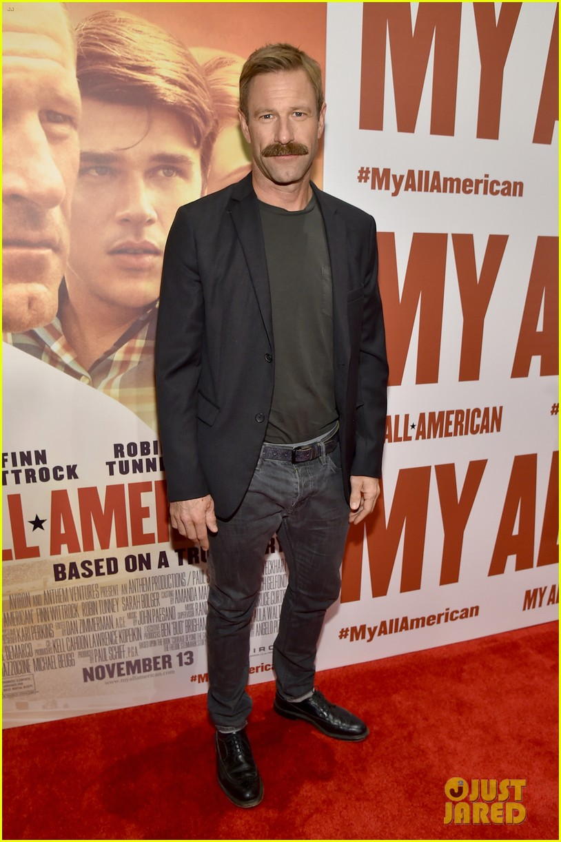 finn wittrock gets support from ahs co stars at my all american premiere 133504813