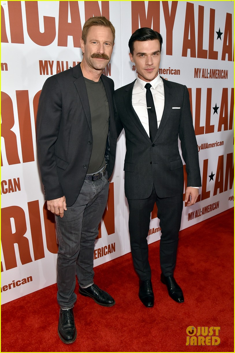 finn wittrock gets support from ahs co stars at my all american premiere 143504814