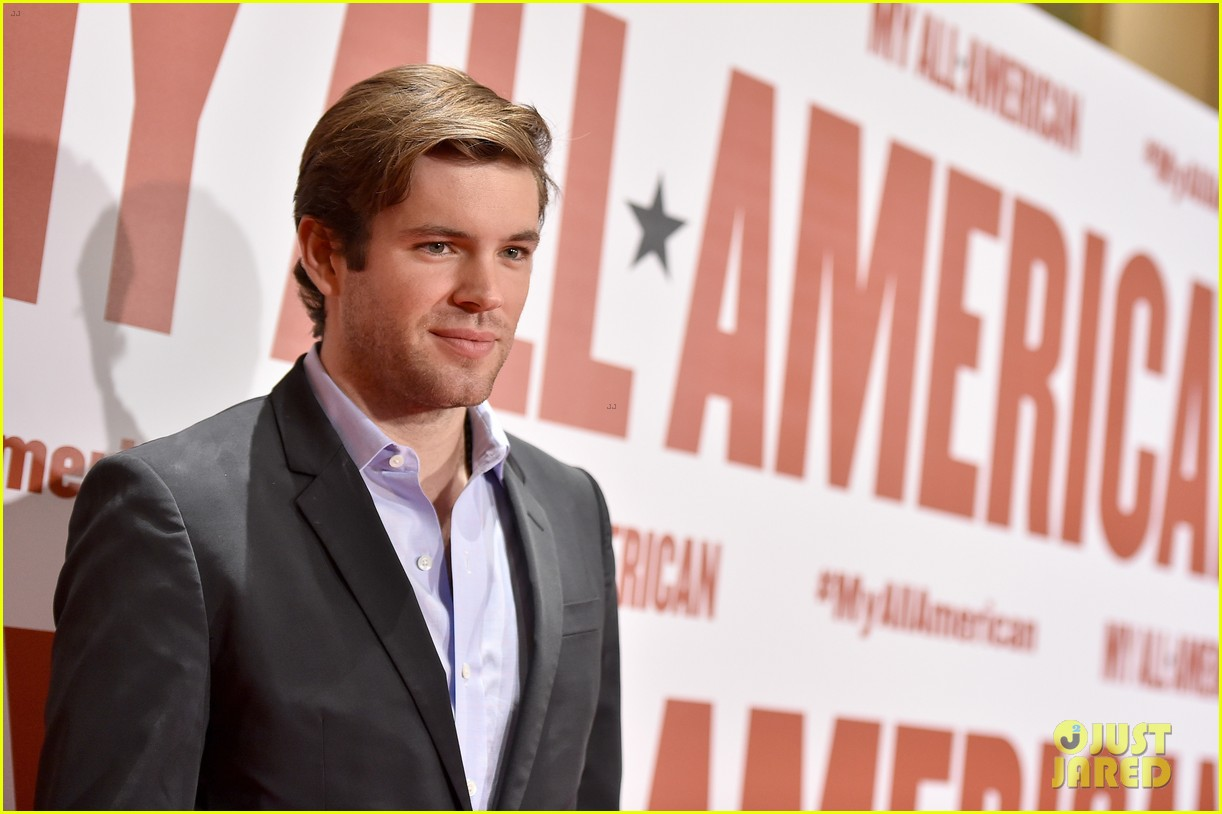 finn wittrock gets support from ahs co stars at my all american premiere 153504815