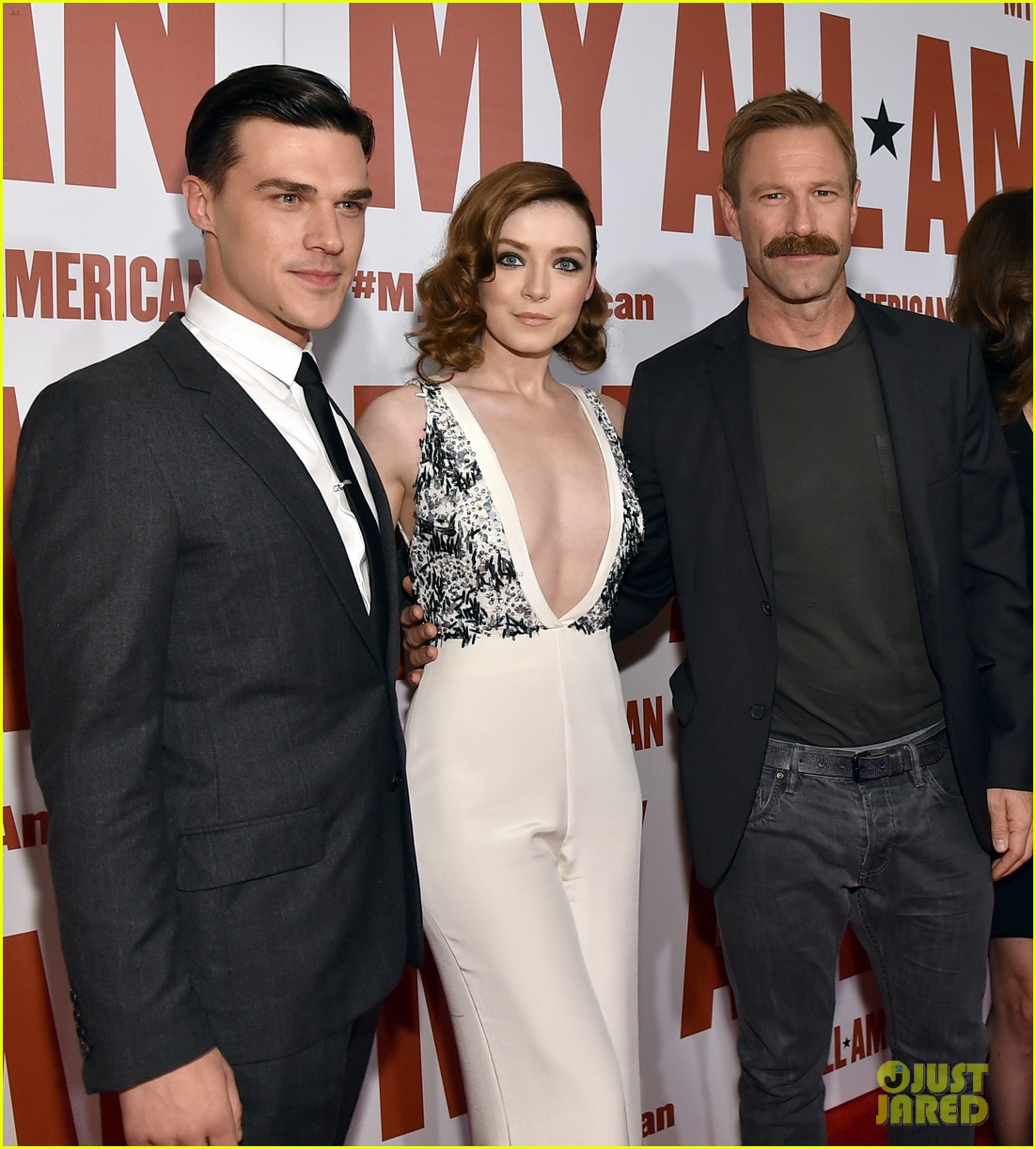 finn wittrock gets support from ahs co stars at my all american premiere 193504819