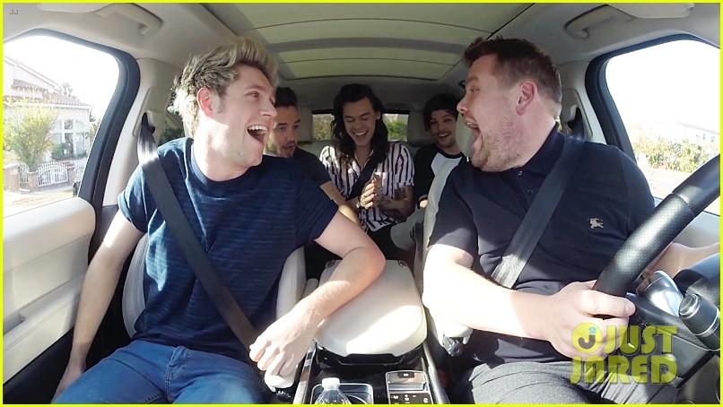 Outstanding One Direction Does Carpool Karaoke With James Corden Video Customarchery Wood Chair Design Ideas Customarcherynet