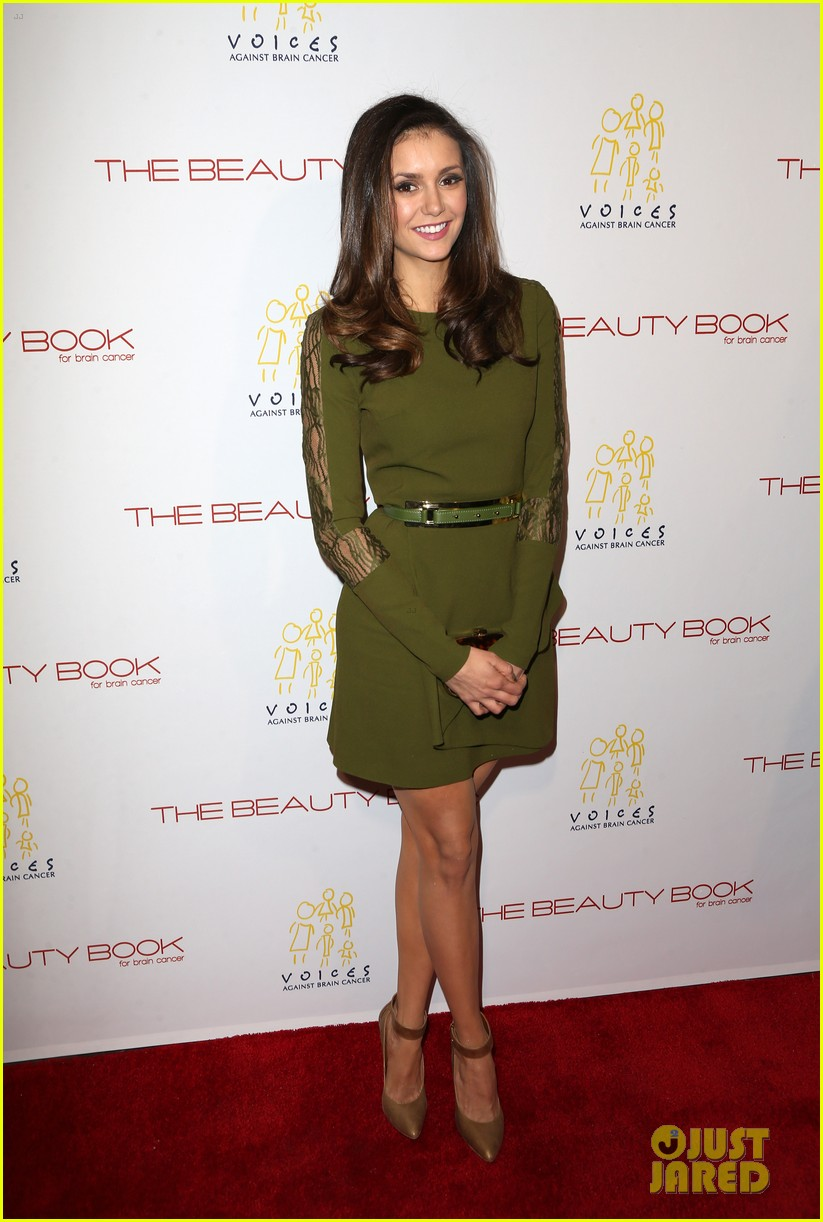 nina dobrev ian harding more beauty book brain cancer event 013522187