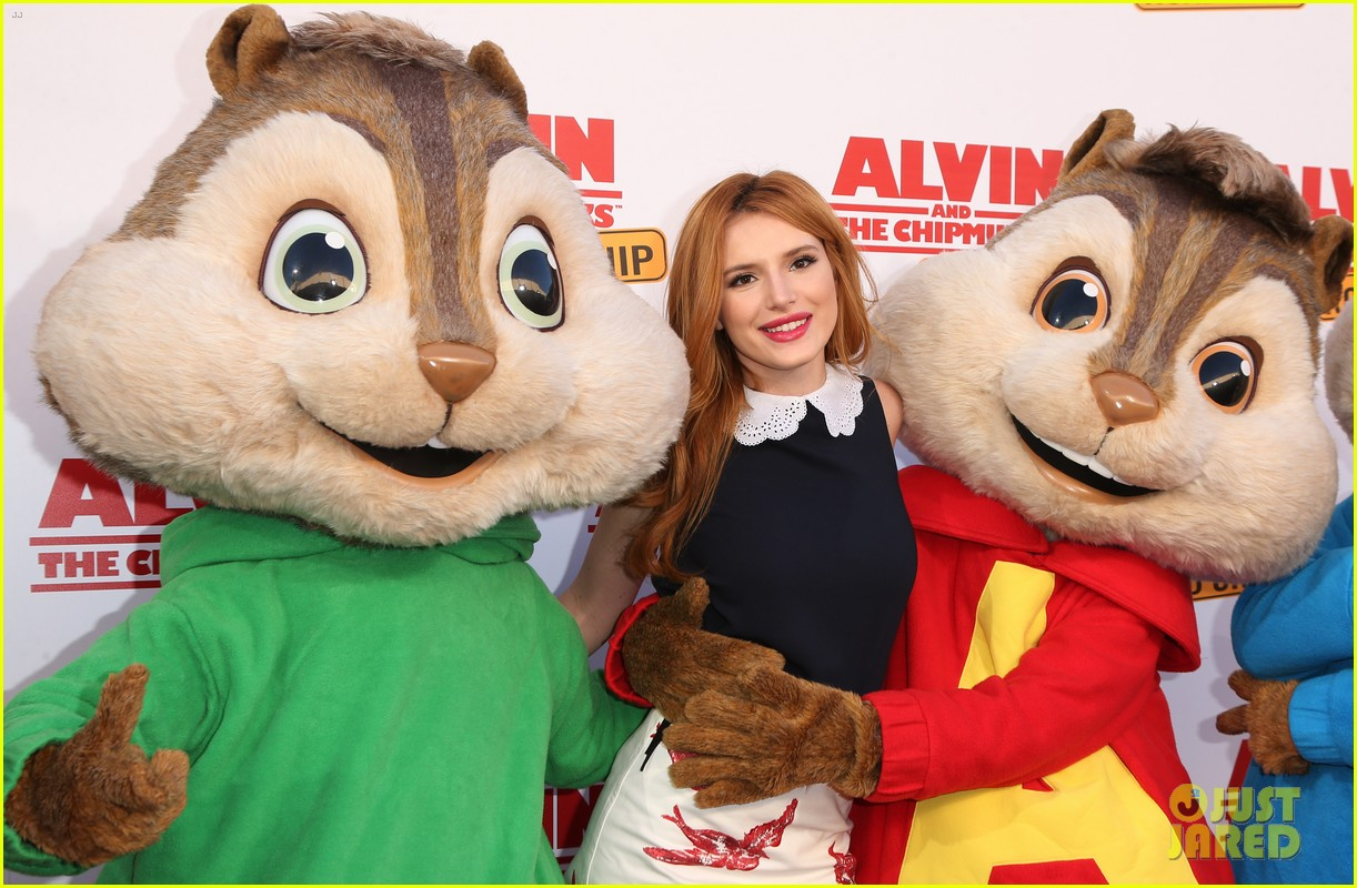 bella thorne premieres 'alvin & the chipmunks' in los angeles: photo