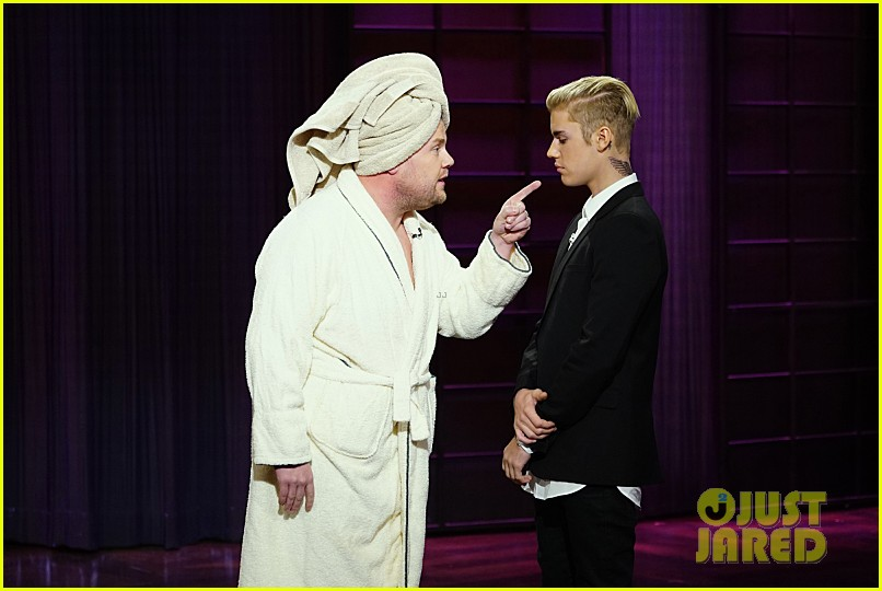 justin bieber subs in for james corden on late late show 053528232
