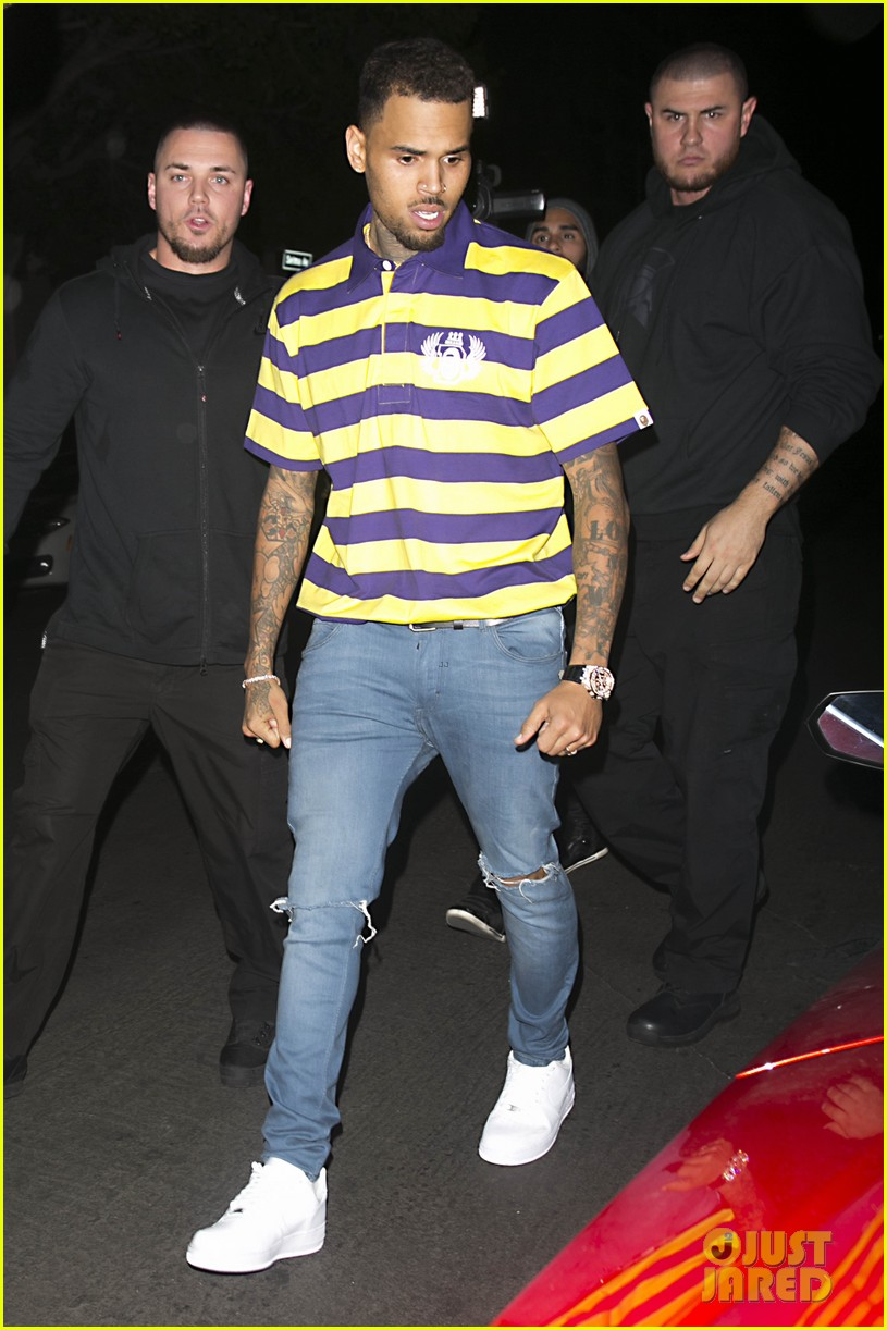 chris brown brings royalty on stage during album release concert 033534874