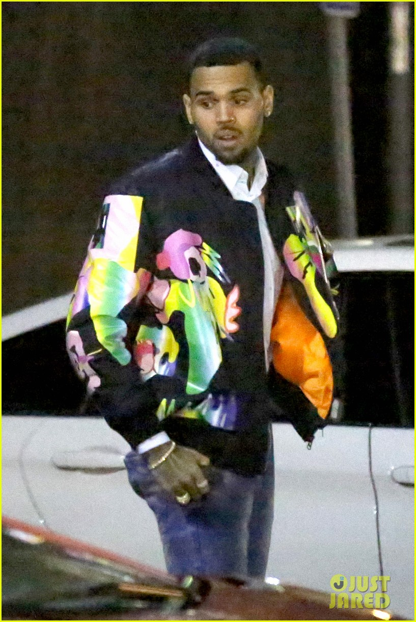 chris brown brings royalty on stage during album release concert 043534875
