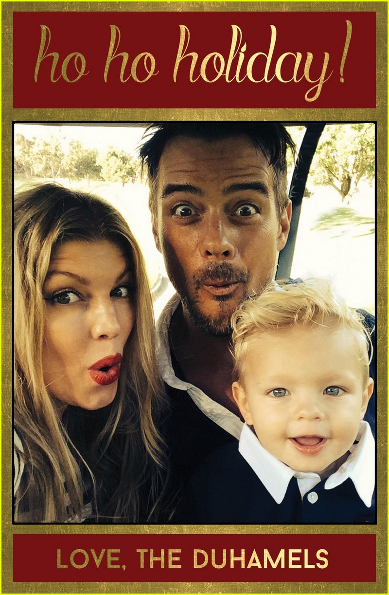 Fergie & Josh Duhamel Share Their Family\'s Christmas Card: Photo ...