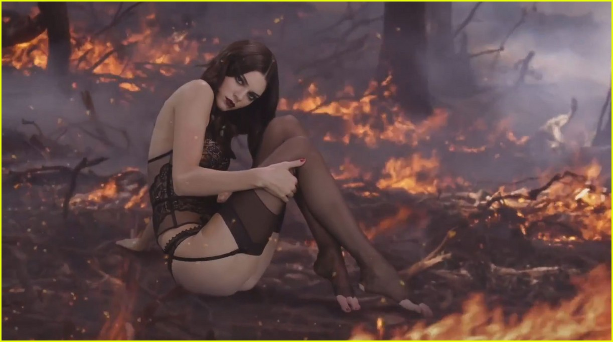 kendall jenner heats up christmas in love mag advent video photo