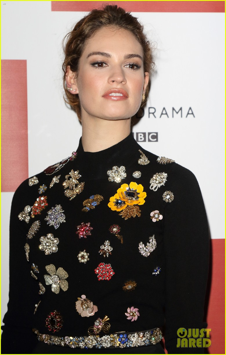 lily james war peace photo call london 183531001